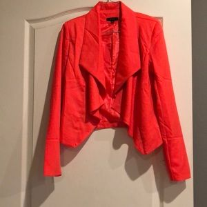 Bright orange blazer